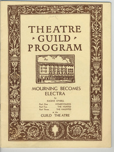 """The Theatre Guild, Inc. Presents """"Mourning Becomes Electra"""""""