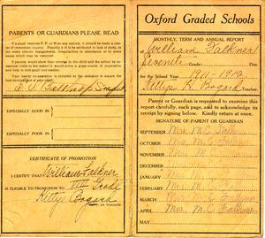 Faulkner's report card