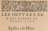 Des Roches. Les secondes oeuvres, p. 11