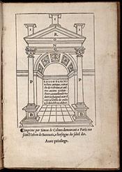 Sagredo. Raison darchitecture antique (1526)