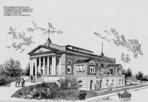 Illustration of Fayerweather Gymnasium