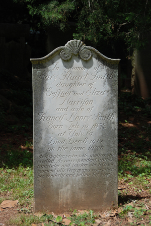 Headstone of Mary Stuart Smith