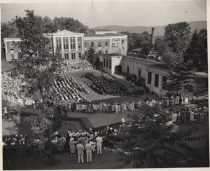 Commencement exercises at McIntire Amphitheater, ca. 1930
