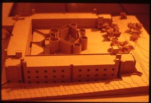 Model of Kahn's proposed Chemistry building