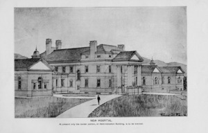Rendering of the Old University Hospital