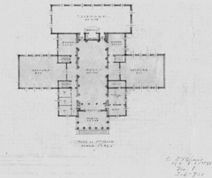 Plan of Clark Hall